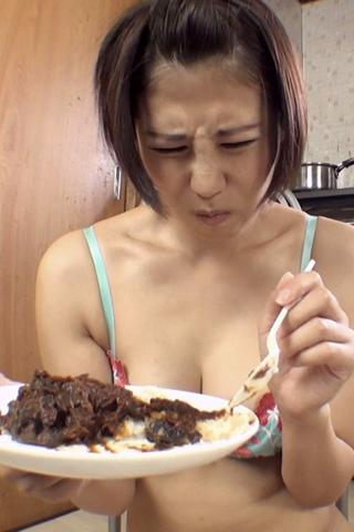 自画撮りうんこカレー食糞ビデオ②