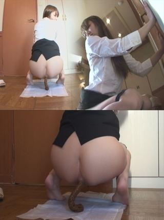 スーツお姉さんの自画撮りウンコ 全力脱糞!3
