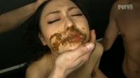 フェチ:白目剥き美女のスカトロ3P