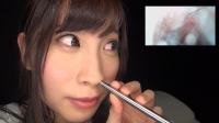 フェチ:ももなちゃんの鼻観察。鼻の中まで見せちゃいます!(通常版+3D)