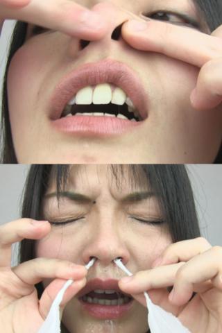 豪快なくしゃみ!鼻水・鼻観察 かすみさん(通常版+3D)