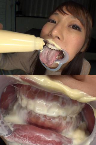高瀬杏ちゃんのマヨネーズ咀嚼