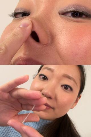 素人娘ともみちゃんの鼻観察・くしゃみ鼻水(通常版+3D)