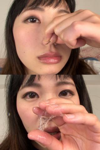 素人娘みほちゃんの鼻観察・くしゃみ鼻水(通常版+3D)
