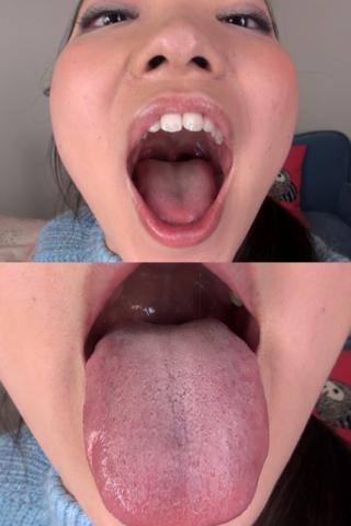 素人娘ともみちゃんの舌・口内自撮り(通常版+3D)