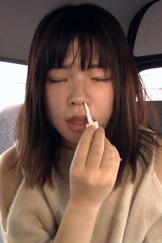 鼻観察→指鼻フック→こよりでくしゃみ