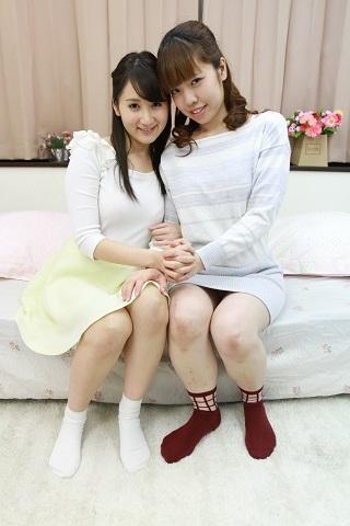 「葵千恵」と「永原まい」の設定なしドキュメントレズセックス