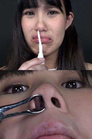 鼻観察 こよりで涙目鼻水 篠岬ことみ(通常版+3D)