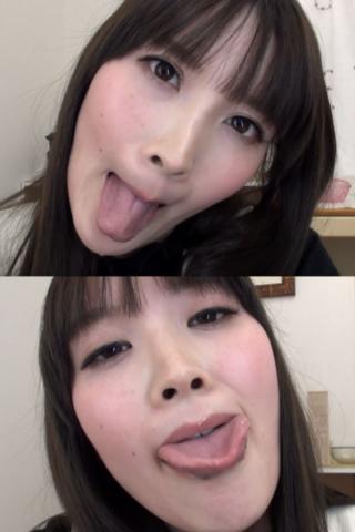 小春ちゃんの舌・口内自撮り(通常版+3D)
