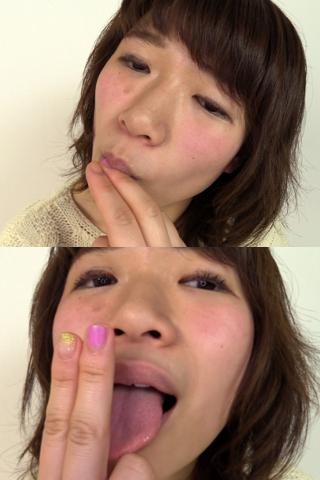 素人娘みきちゃんのセルフ指フェラ(通常版+3D)