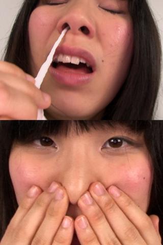 素人娘かりんちゃんの鼻観察・くしゃみ鼻水(通常版+3D)